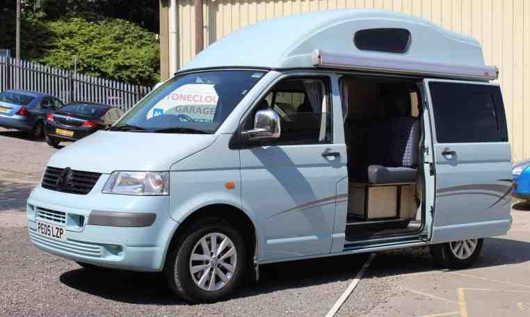 VW Leisuredrive Vivante Campervan with door open