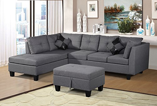 amazon com living room furniture ideas for sectionals cheap sets under 500 our 8 best picks leisure legend merax 3 piece sectional set