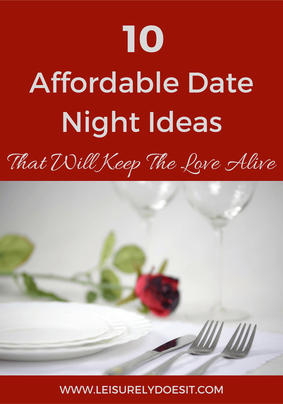 A list of ten affordable, yet romantic, ways to enjoy date night.