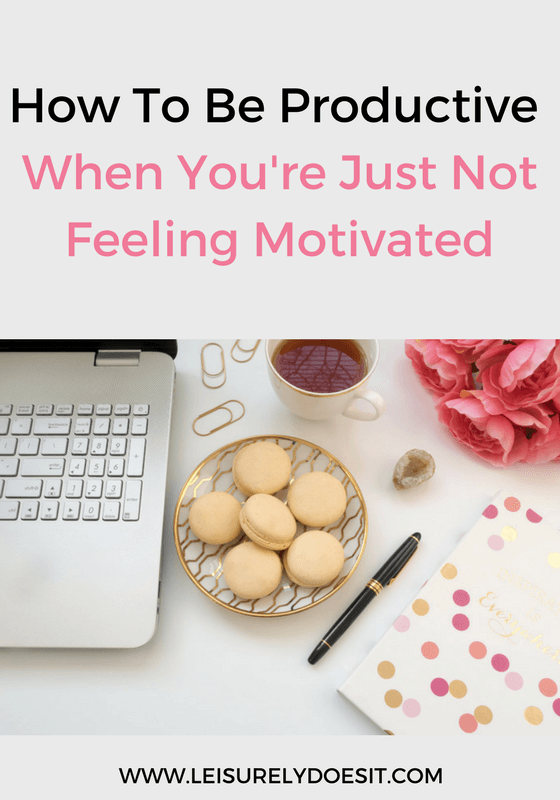 It happens to the best of us—you're just not motivated to get anything done. Follow these practical tips to get out of your slump and become productive.
