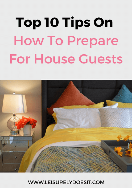 Making house guests feel comfortable extends beyond a cozy bed. Click to read these top ten tips about how to prepare your home for guests.