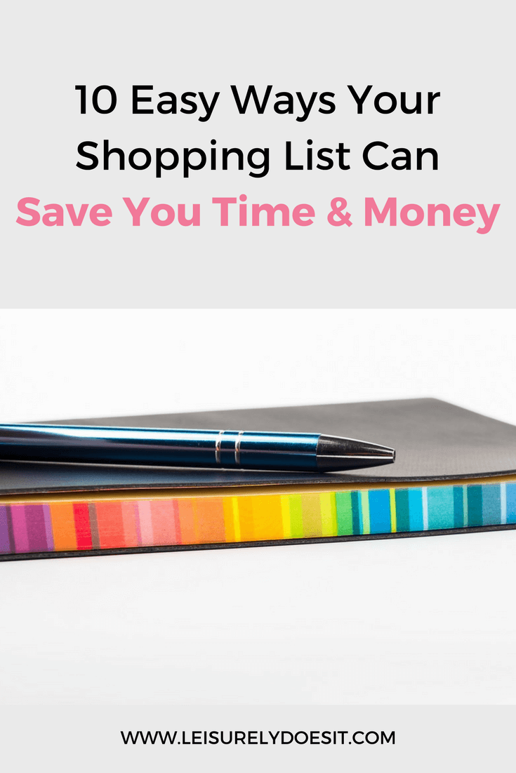Did you know a simple shopping list can save you both time and money? Follow these ten tips to make an effective grocery list.