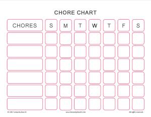 Free Printable Chore Chart | Chore Chart Printable | Free Chore Chart