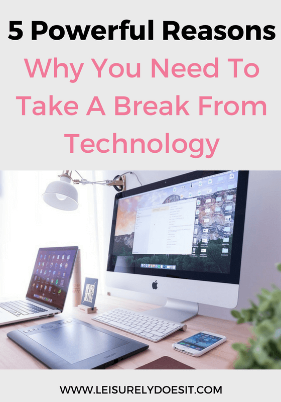 Technology is a huge part of our lives but as much as it's a blessing, it's also a curse. Learn five reasons why you should take a break from technology.