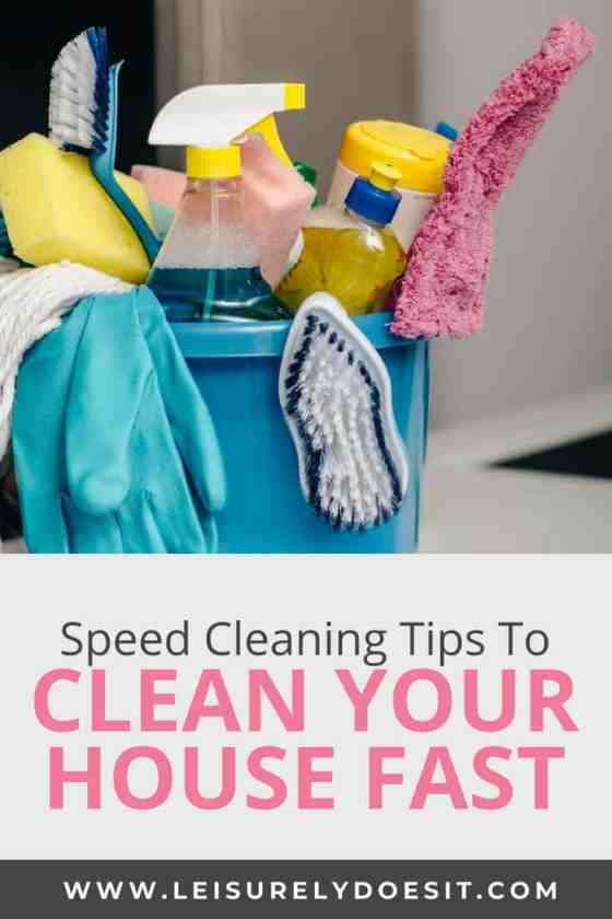 Speed Cleaning Tips How To Clean Your House Fast Leisurely Does It - Fastest way to clean a bathroom