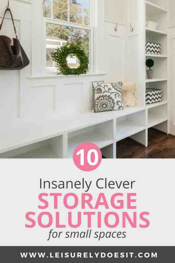 10 Insanely Clever Storage Solutions for Small Spaces ...