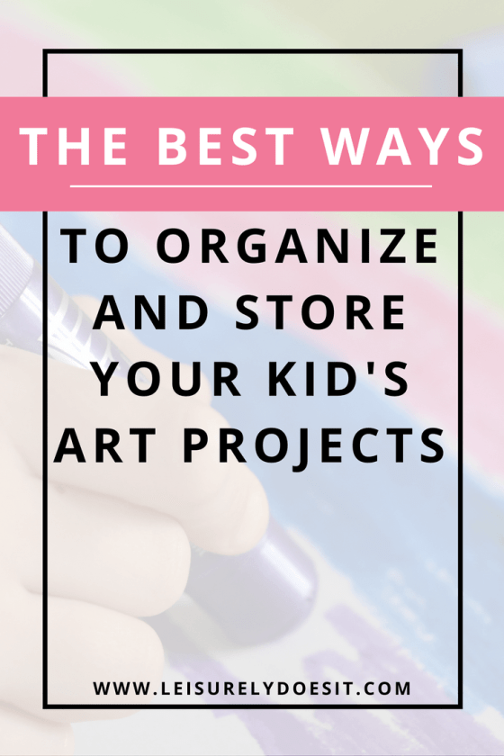 Need some easy organization and storage ideas for your kid's art projects, as well as ways to display them? Click here for some great tips on what you can do with all the artwork and crafts your child brings home from school. via www.leisurelydoesit.com