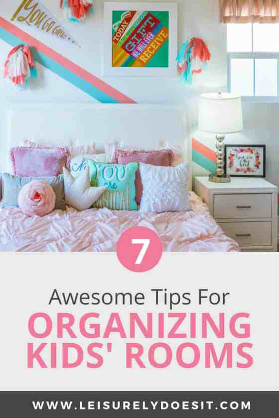 7 Awesome Tips For Organizing Your Kid\'s Bedroom