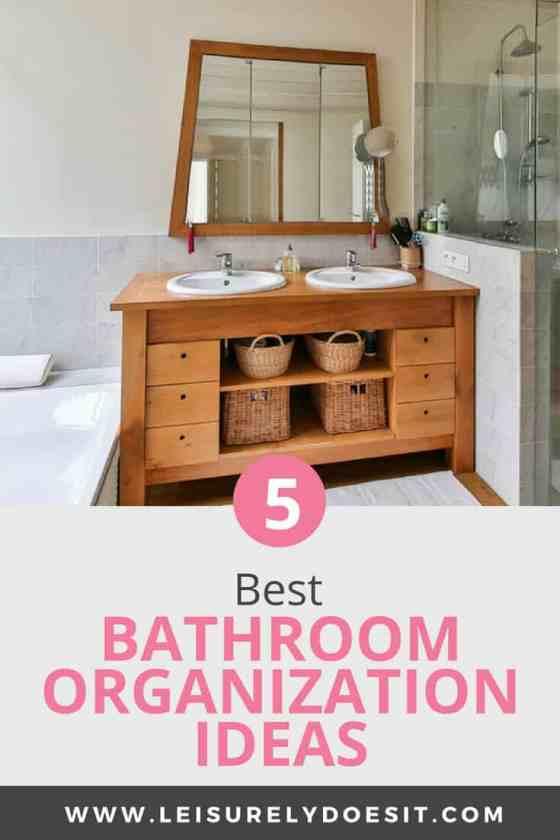 The 5 Best Bathroom Organization Ideas To Streamline Your Space