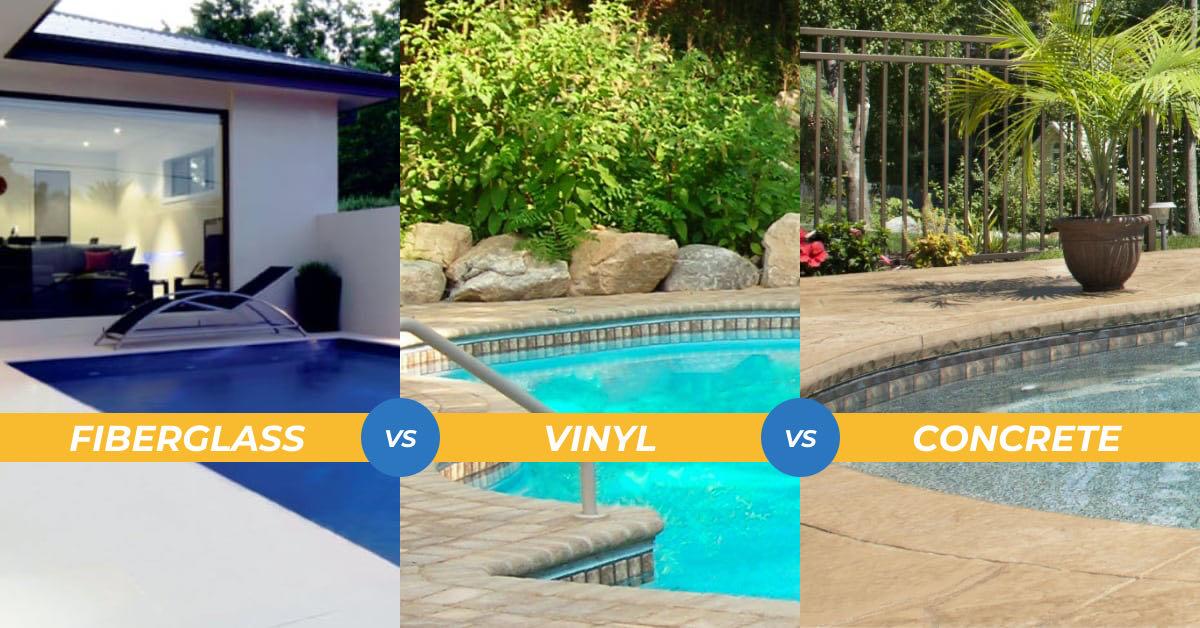 fiberglass vs vinyl pool vs concrete