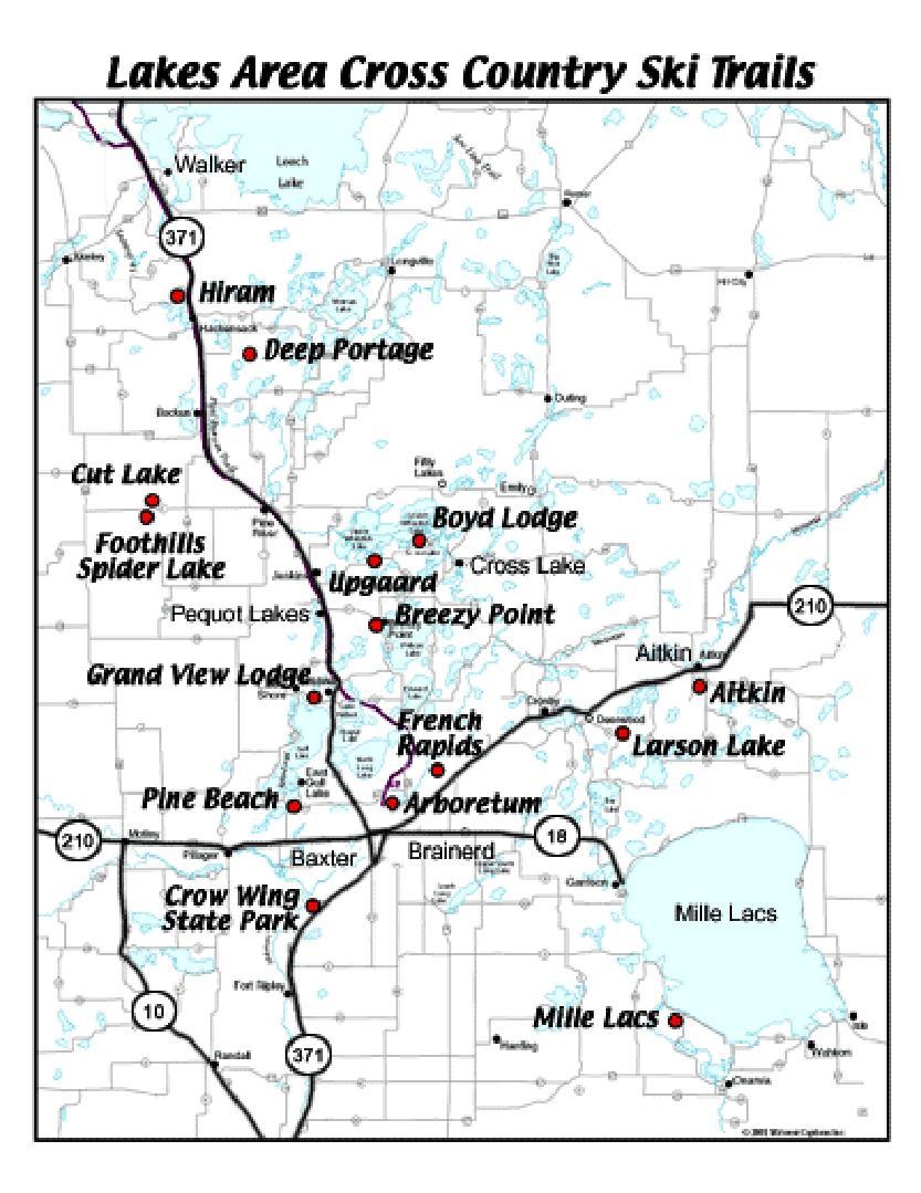 Lakes Area Ski Trails