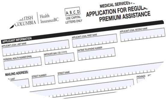 低收入家庭如何申请MSP减免 (2018)