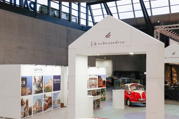 Messe Marketing mit ausgefallenem Messestand