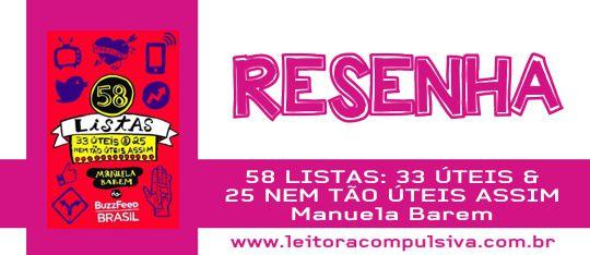 58 Listas, de Manuela Barem #Resenha