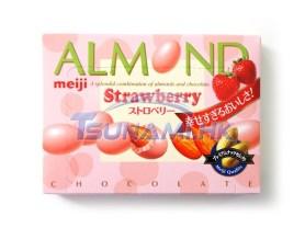 Amandes enrobées de chocolat à … la fraise, Meiji