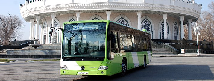 Bus de Tachkent, flambant neuf