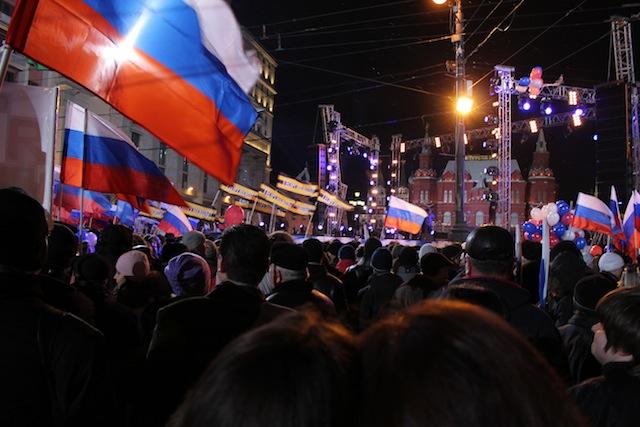 Soir de l'élection présidentielle en Russie