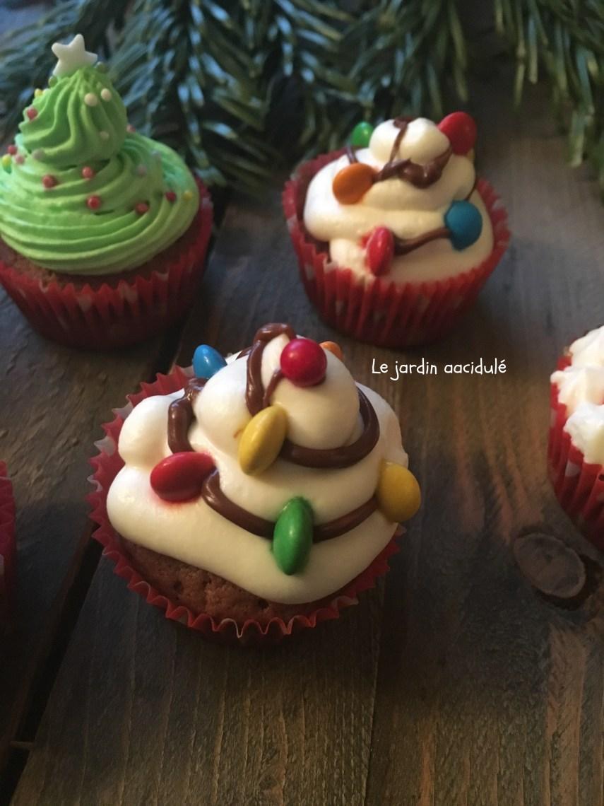 Cupcake guilande de Noël