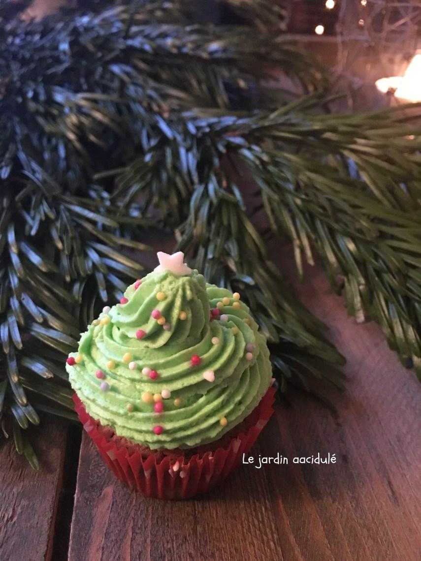 Cupcake sapin de Noël