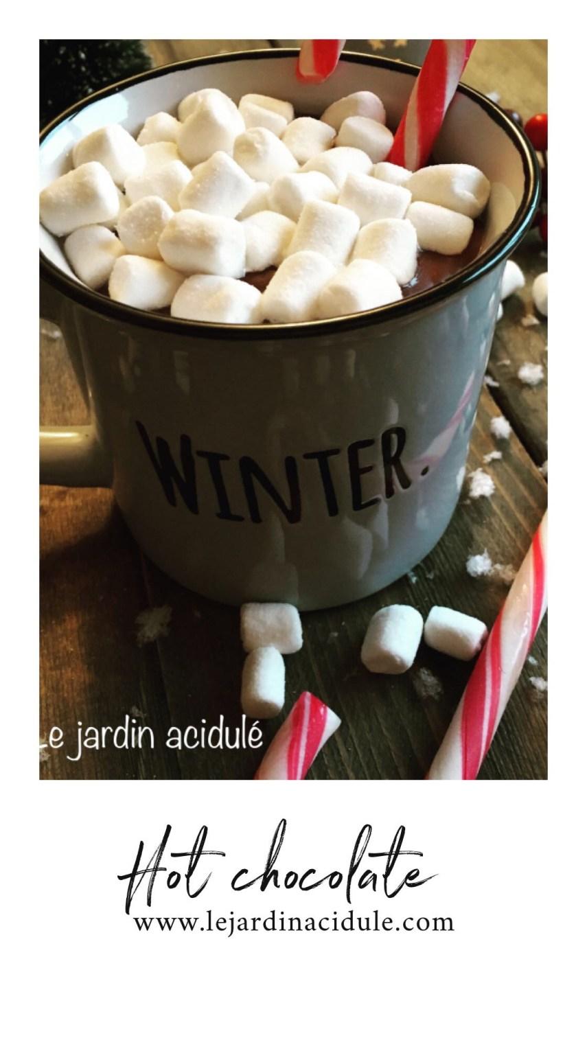Hot chocolate - chocolat chaud maison