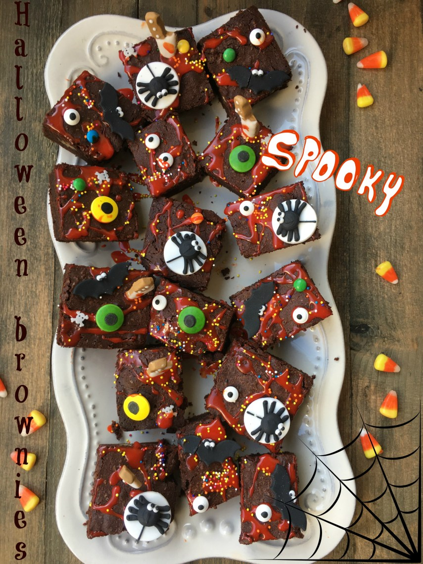 Halloween brownies 1