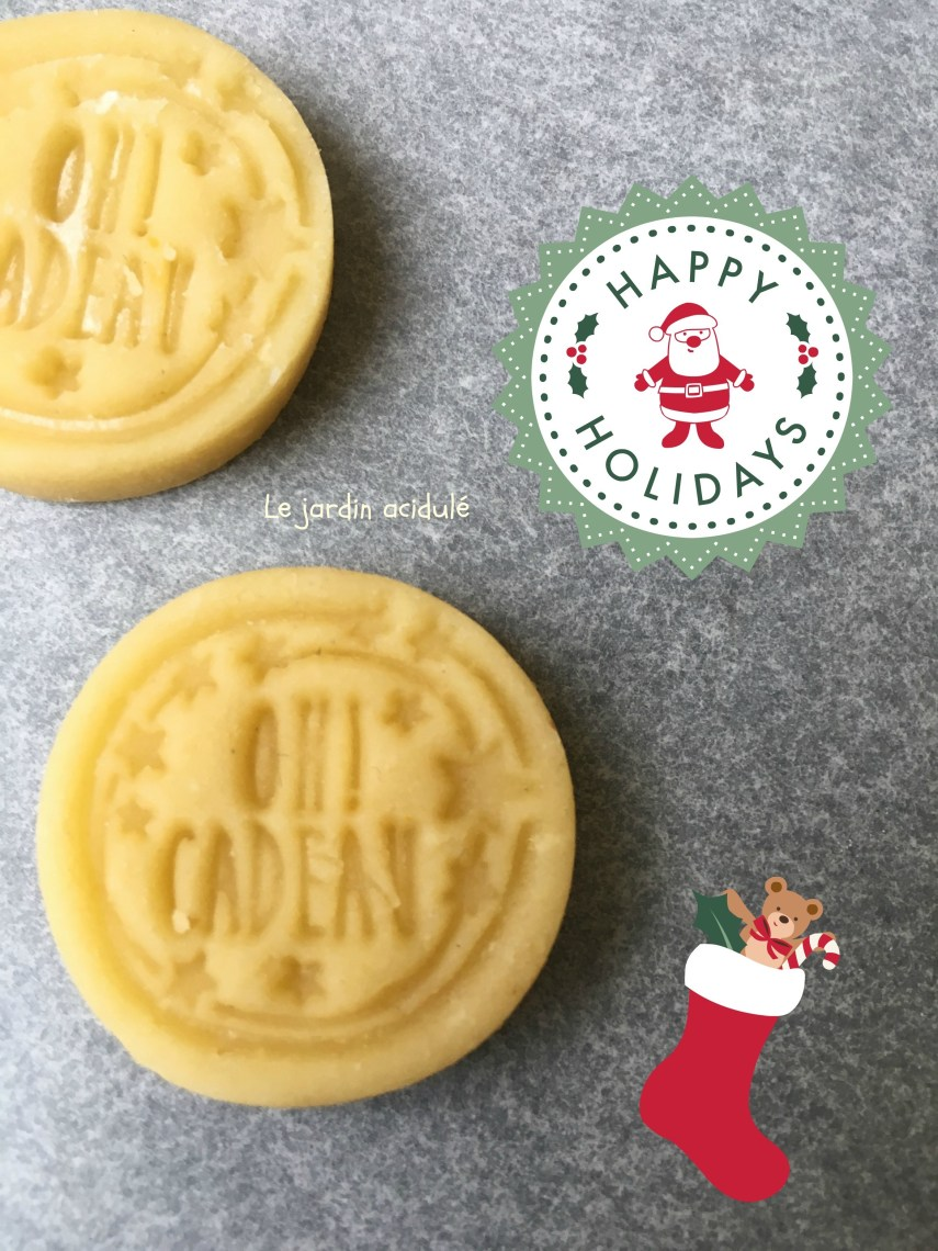 Biscuits de Noël avec tampons