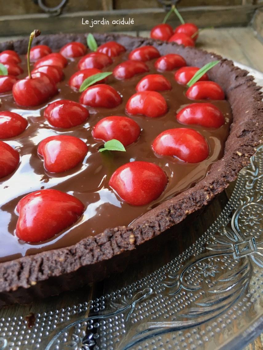 Tarte chocolat cerises 3