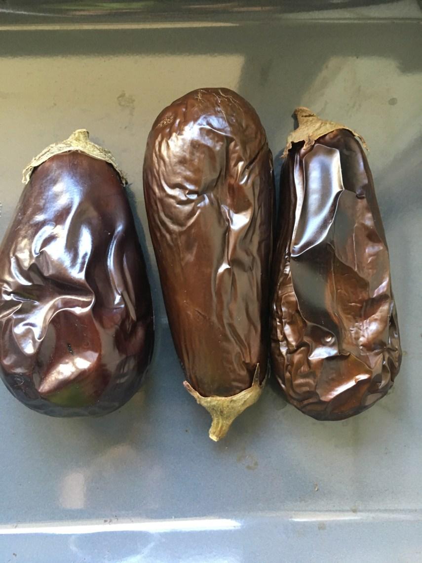 Aubergines grillées