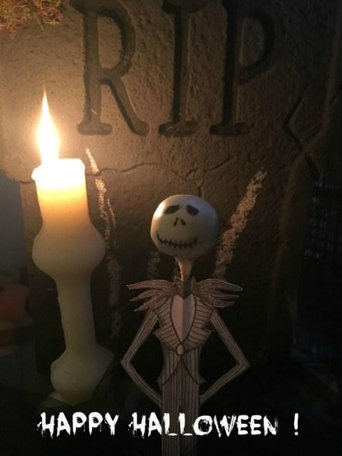 Sucette pop cake Mr Jack Halloween