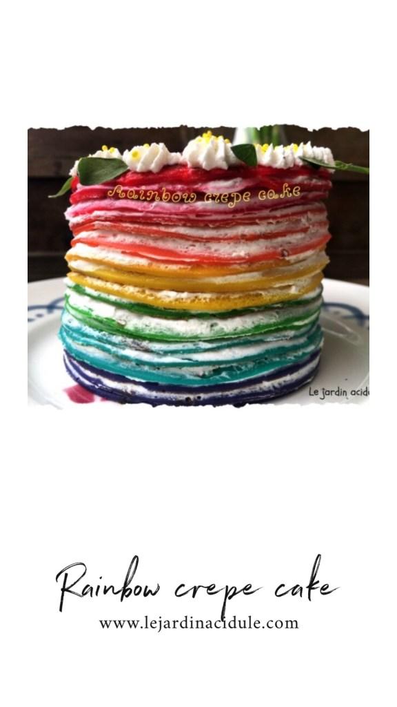 Rainbow crepe cake