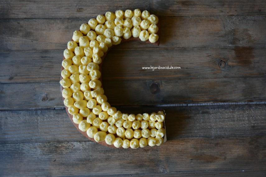 letter cake au citron