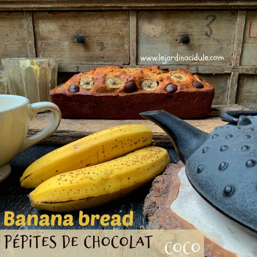 banana bread chocolat coco