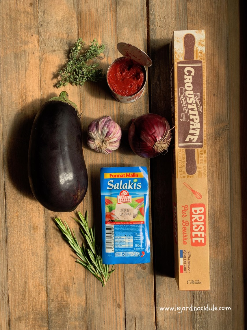 Tarte tatin aux aubergines