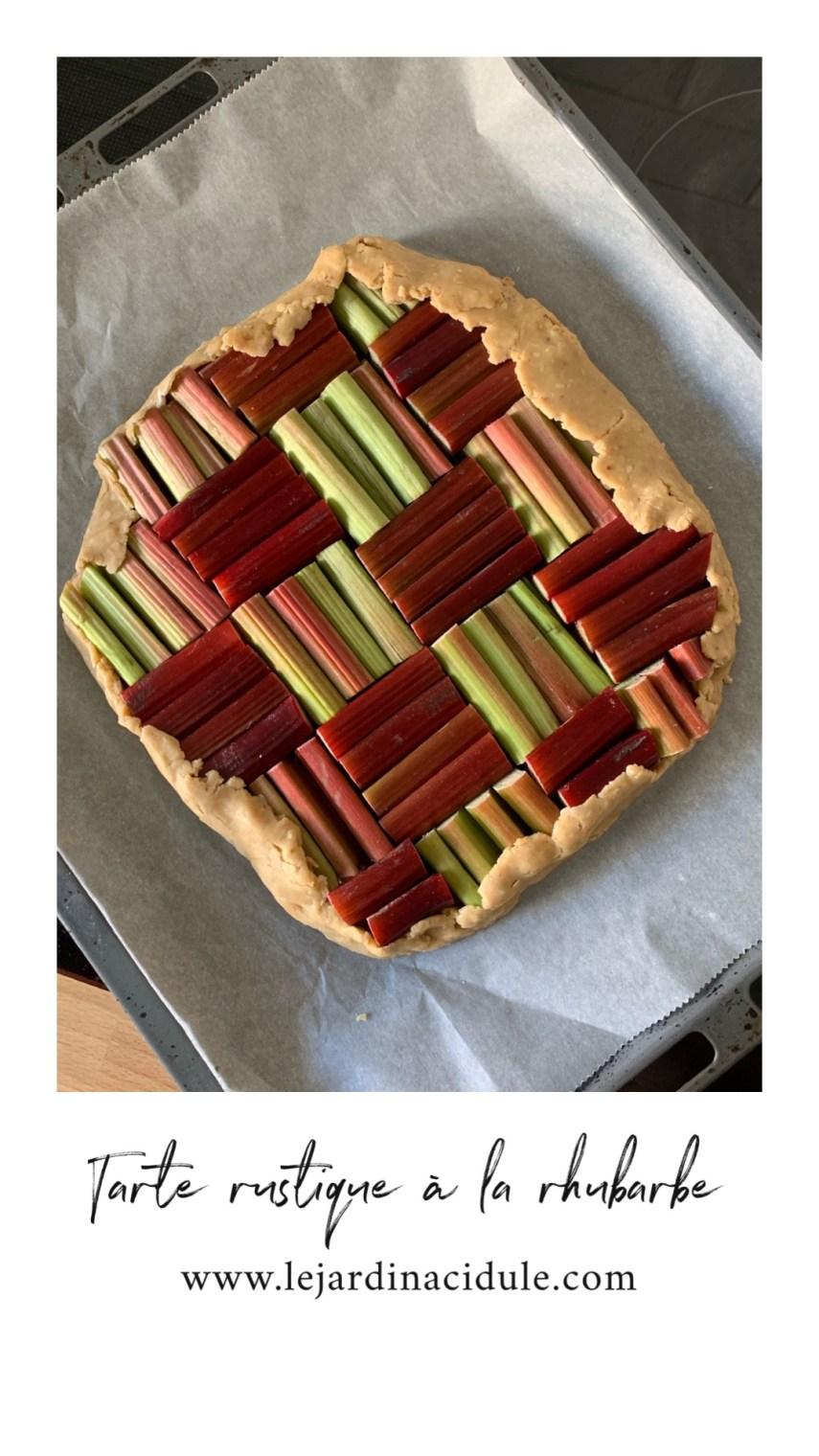 tarte rustique à la rhubarbe