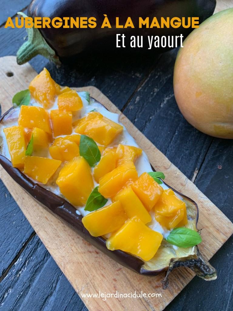 aubergines à la mangue et au yaourt