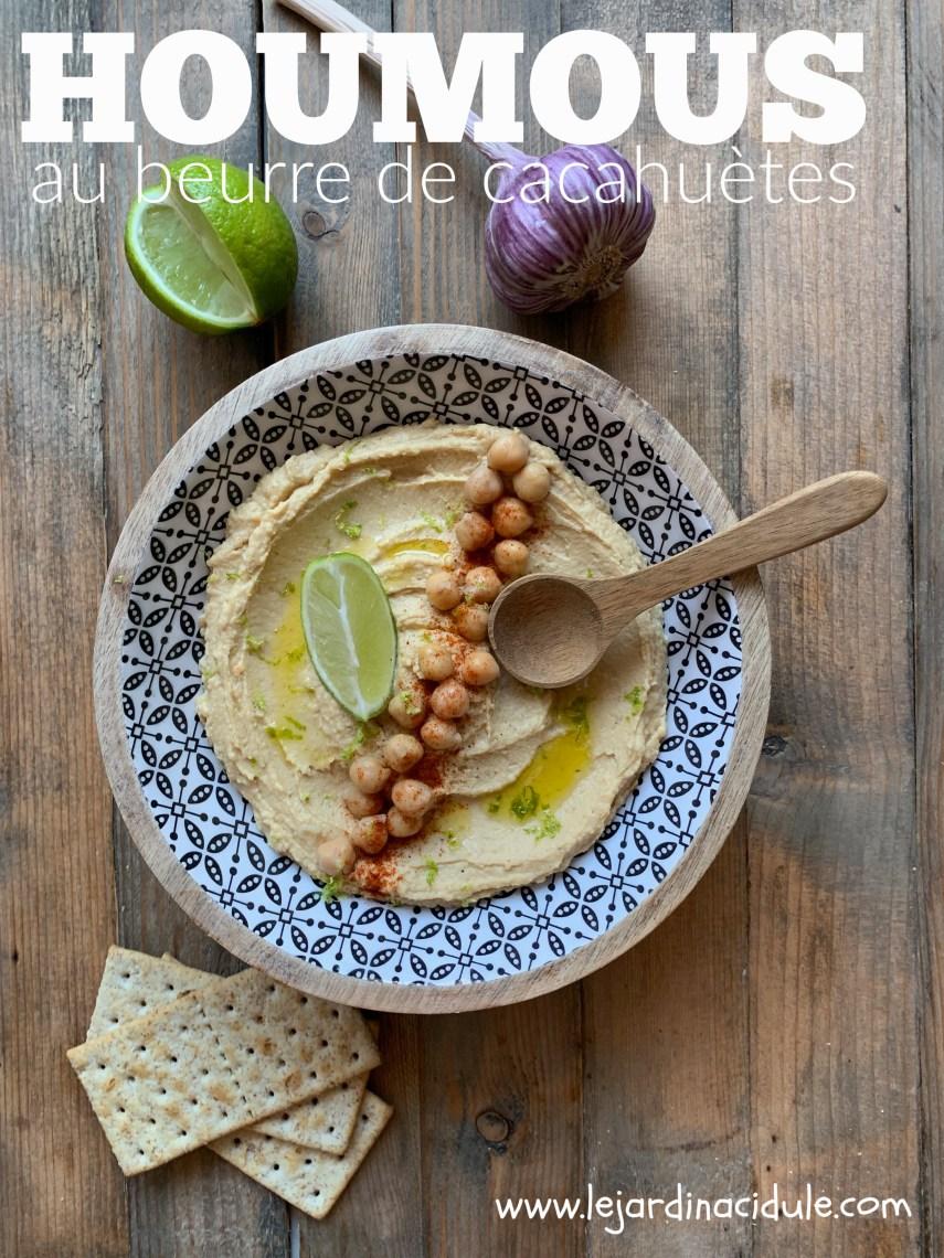 Houmous au beurre de cacahuète et citron vert