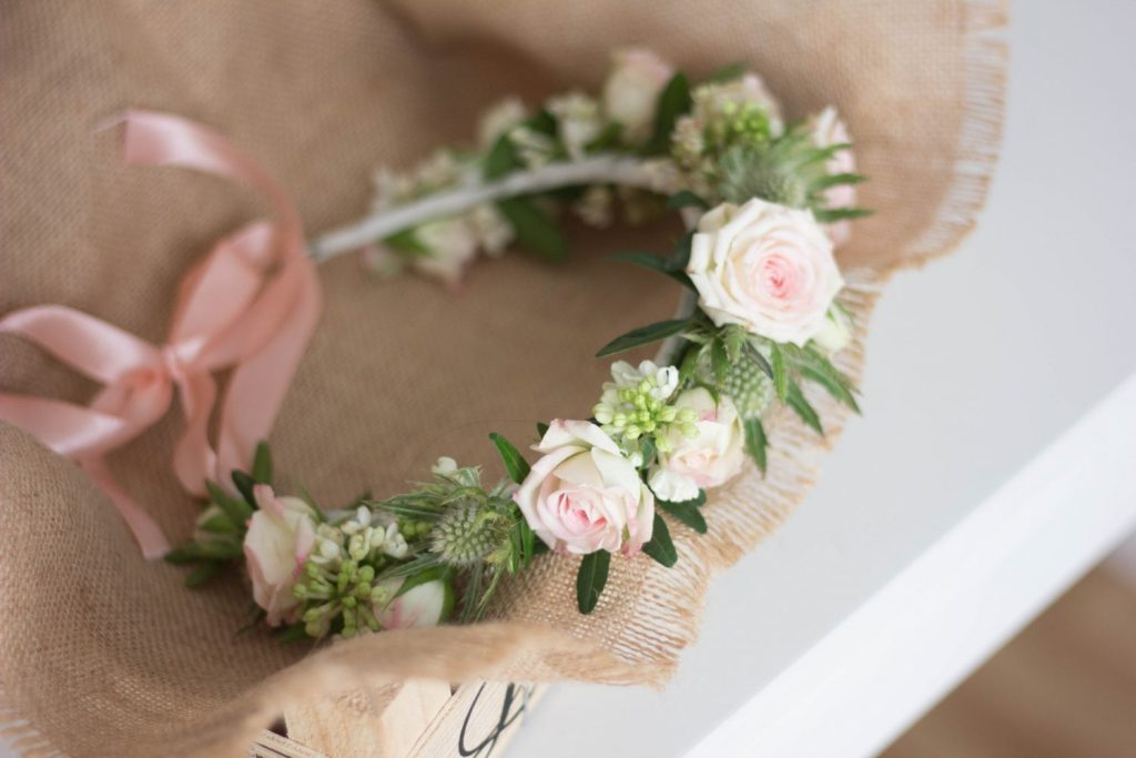 Le Jardin d'Audrey - wedding soft pink flower crown