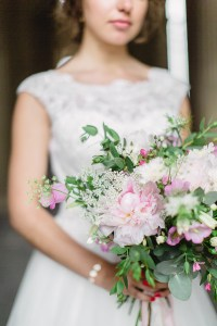 Le Jardin d'Audrey - soft pink blush bridal bouquet
