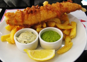 fish and chips comme à jersey