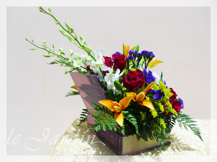 Book of Love Flower Arrangement  Le Jardin Florist