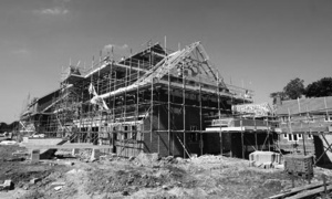 Construction on a building site in Hatfield