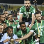 Les joueurs de Le Raja de Casablanca remporte ce weekend la Coupe de la Confédération africainede football