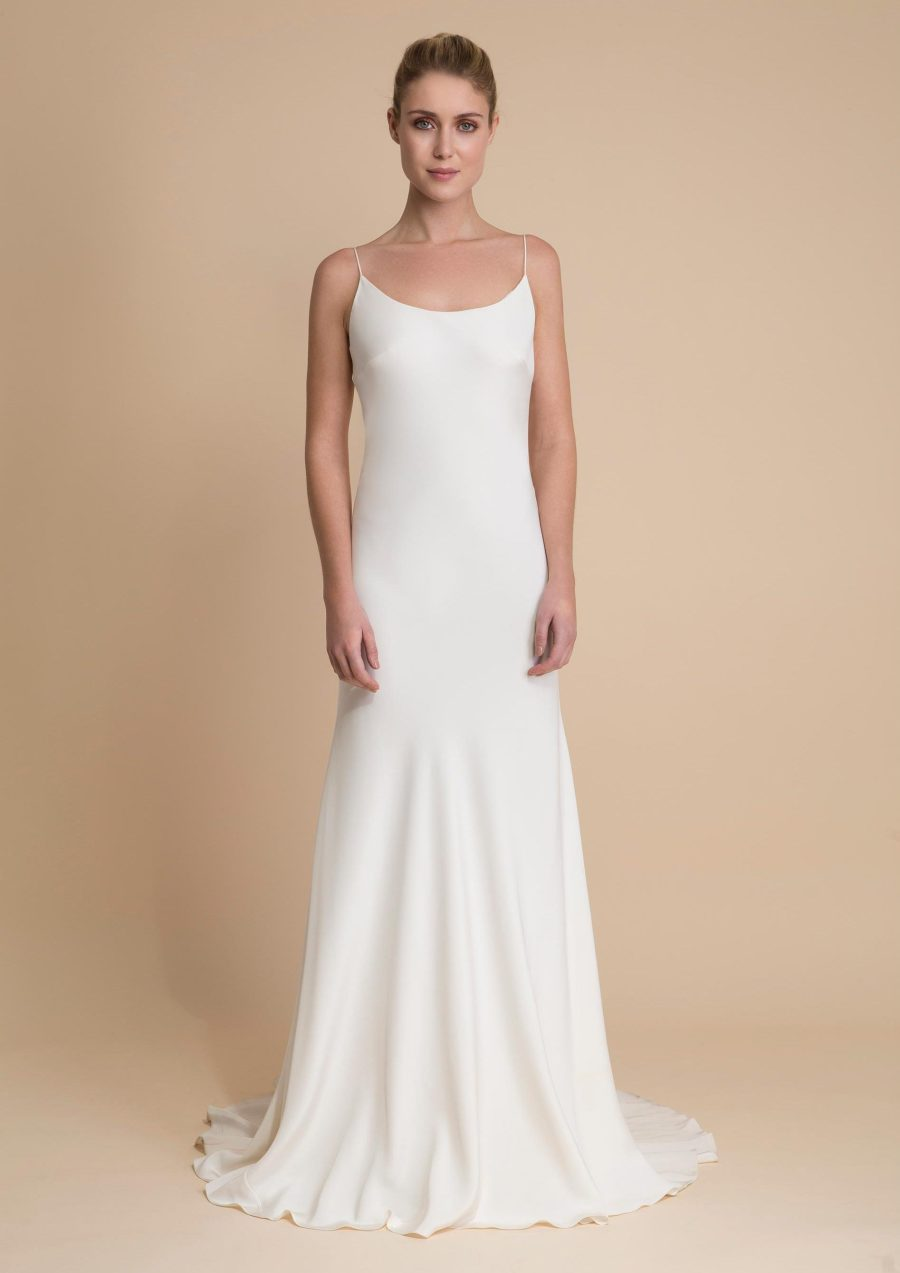 Delphine Manivet's 'Edouard' dress is a beautiful example of a scoop neckline