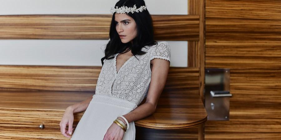 Laure de Sagaza, boho wedding, wedding dress, french wedding dresses