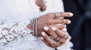 Bridal nails, nude nails