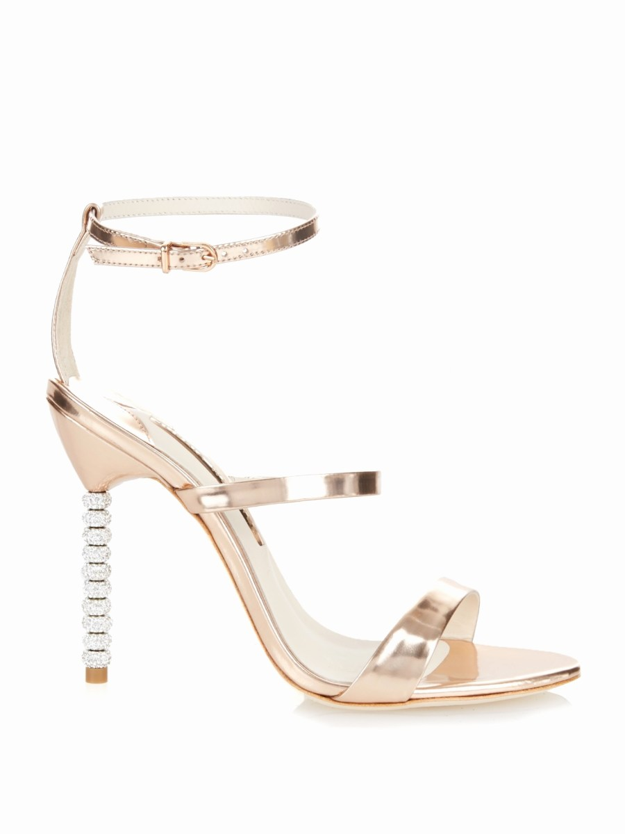 sophia webster wedding shoes Elegant Sophia webster Rosalind Crystal Heel Metallic Leather Sandals in
