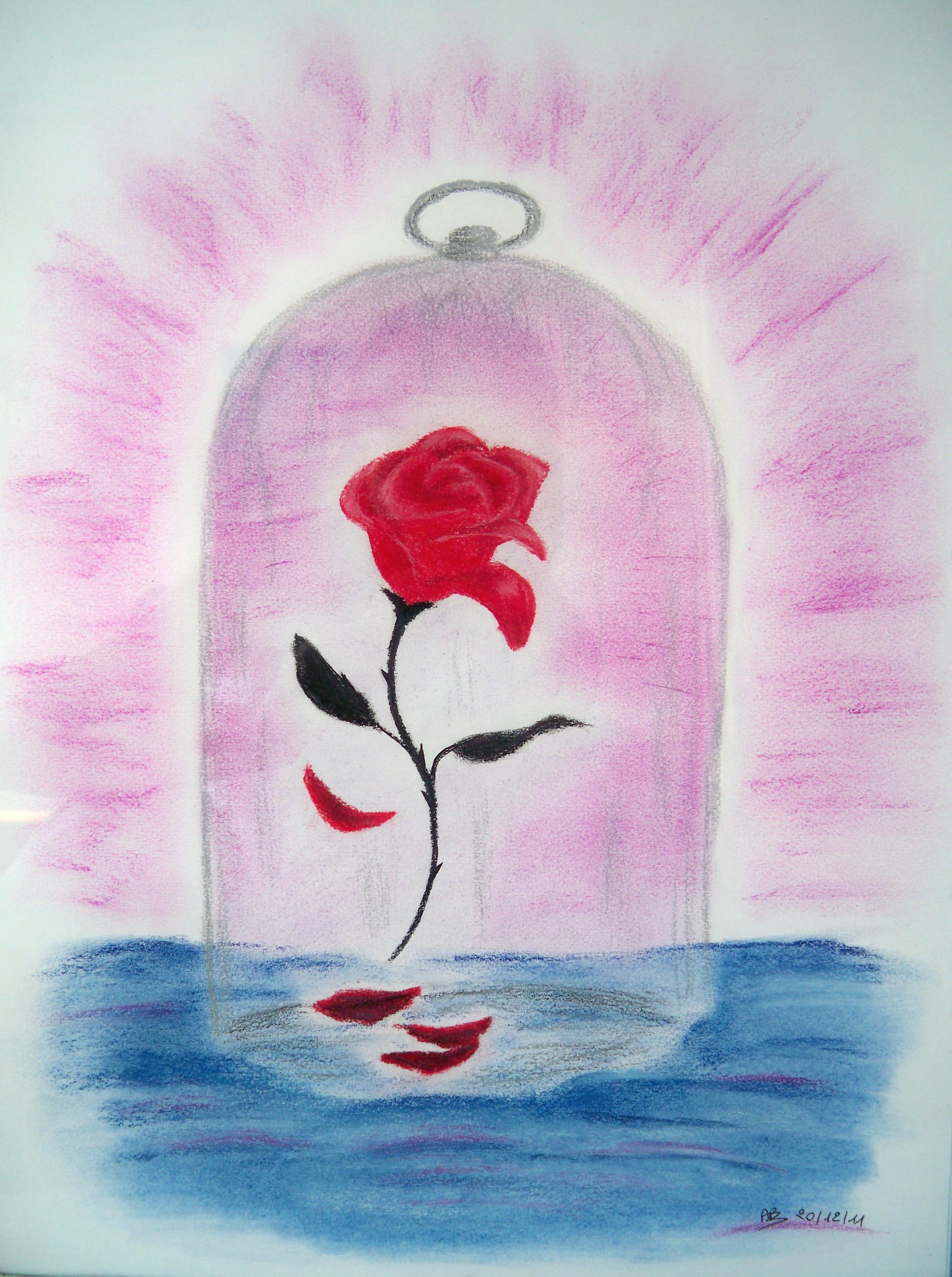 Dessin Rose La Belle Et La Bete : dessin, belle, Belle, Bête, Pastel, Histoire, Dessins..., Pastels,, Acryliques,, Autres...