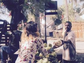 En la parada de cocos...mmmmm riquísimos!!
