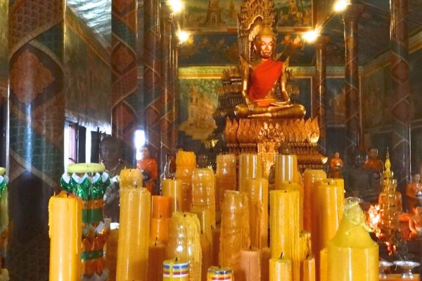 bougies au Cambodge