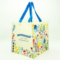 150g non-woven bag with a matte lamination and large square base